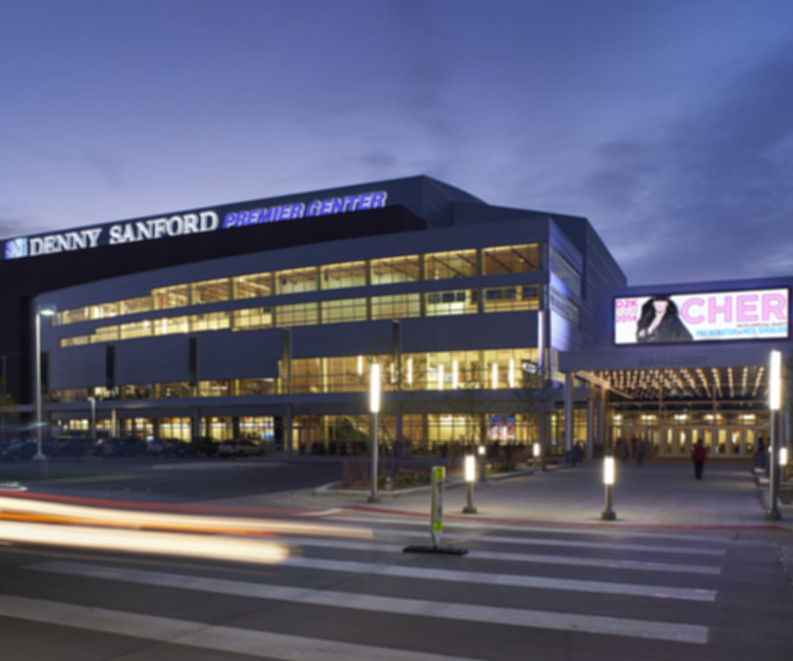 Denny Sanford Premier Center design by Koch Hazard Architects